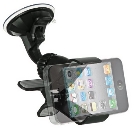Clipper Car Mount with Swivel Holder for iPhone X 7 8 Plus SE 6s 6 5s SE iPod Touch 6th GPS Samsung Galaxy S8 S7 Note 8 5 On5 J7 J1 Core Grand Prime ZTE ZMax Pro LG G6 V30 Stylo 3 2