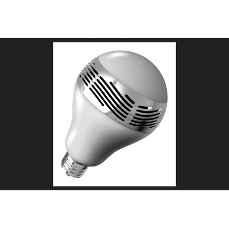 Sharper Image LED Bulb with Bluetooth Speaker