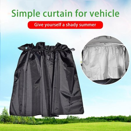 - 2 pcs Auto Side Window Curtain Universal With Sucker Cup 190T Polyester Taffeta Sunshade UV Protecting Car Suns Block Curtains