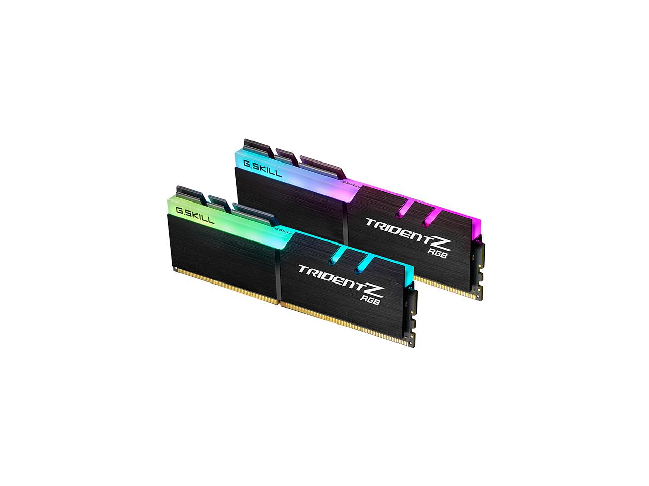 G.SKILL TridentZ RGB Series 16GB (2 x 8GB) 288-Pin DDR4 3200MHz (PC4 25600) Desktop Memory Model F4-3200C14D-16GTZR