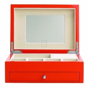 High Gloss Finish Citrus Orange Jewelry Box