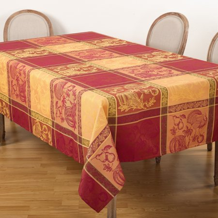 Saro Lifestyle Thanksgiving Collection Jacquard Plaid Tablecloth ()