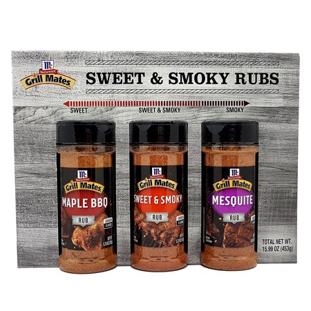McCormick Grill Mates Sweet & Smoky Rubs Set of 3 Flavors (Maple BBQ, Sweet & Smokey, and Mesquite) 3 X 5.75 Oz. (Pack of (Mini Simply Sweet Rub)