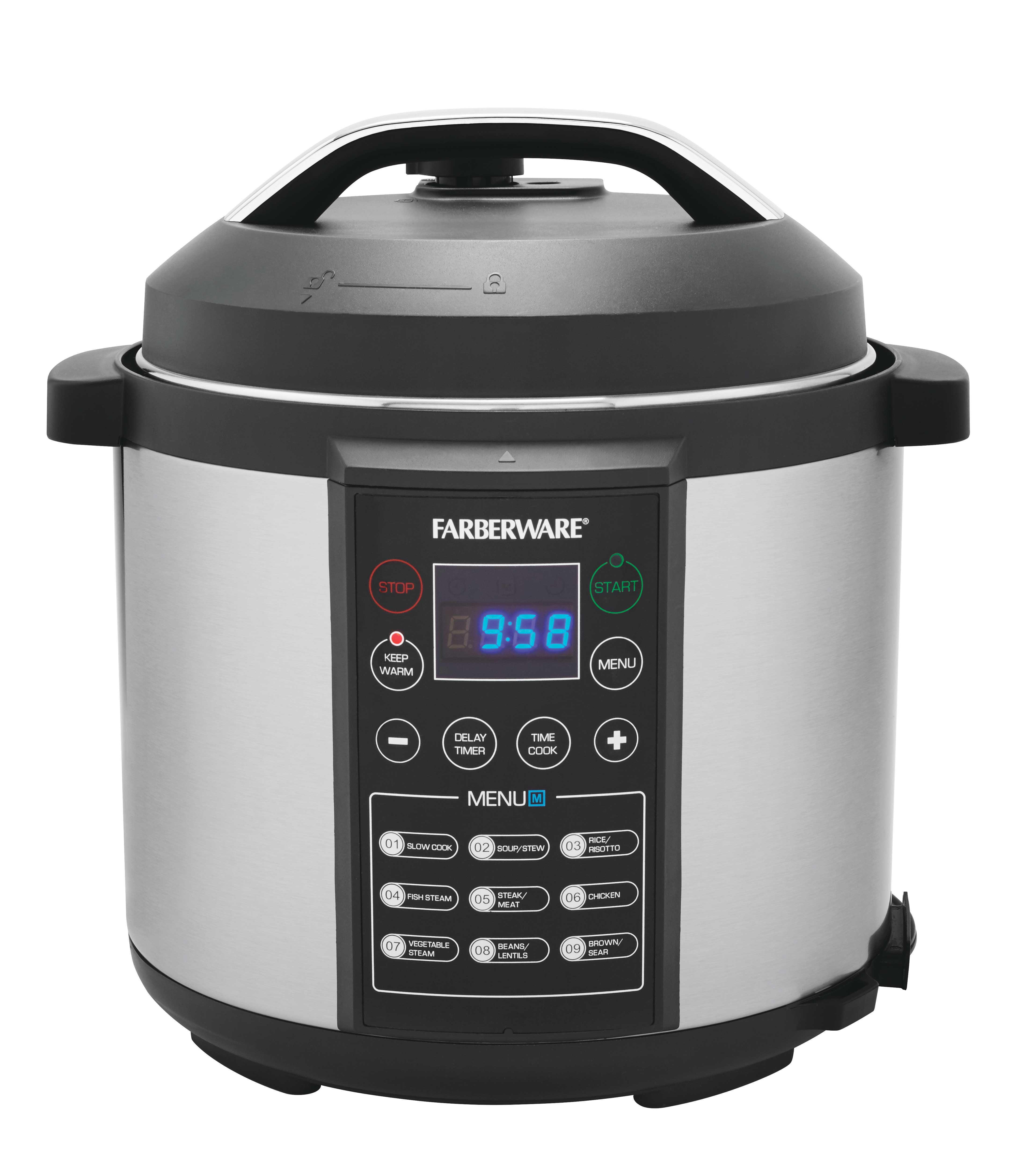 Farberware Digital Pressure Cooker, 6 Quart