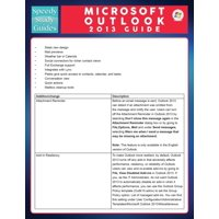 Microsoft Outlook 2013 Guide (Speedy Study Guide) (Paperback)