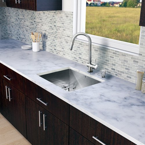 Vigo 23 L X 20 W Undermount Kitchen Sink With Faucet Grid