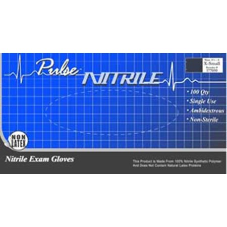 Exam Glove Pulse Nitrile Nonsterile Powder Free Nitrile Textured Fingertips Lavender Medium Ambidextrous Box of 200