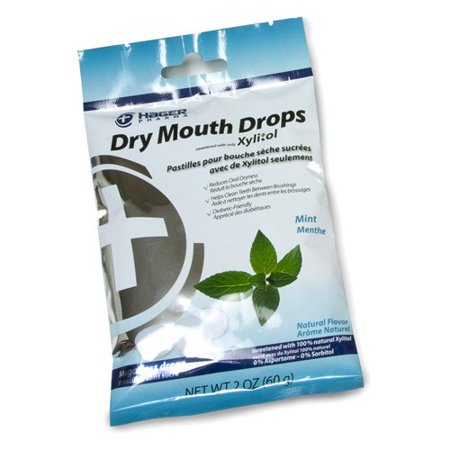 Hager Pharma Dry Mouth Drops Xylitol Mint Sugarless Drops 2