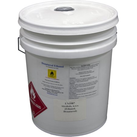 5 Gallon Pail of Denatured Ethanol with 200-Proof Ethyl Alcohol IPA and NP  Acetate