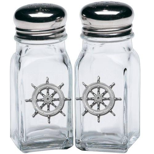 Ship Wheel Salt & Pepper Shakers
