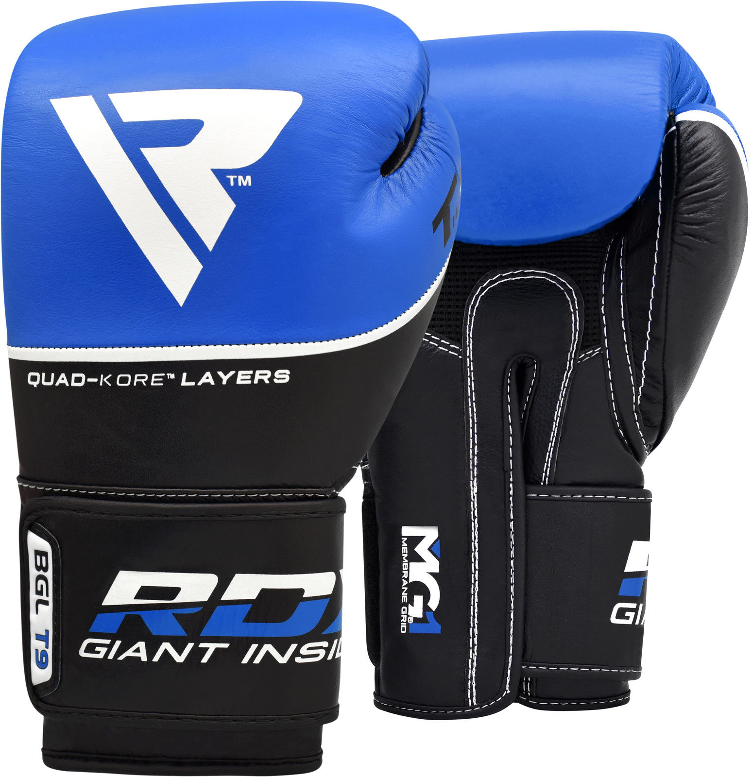 RDX Gel Boxing Gloves Leather Training Punch Bag MMA Sparring Muay thai 10-16oz