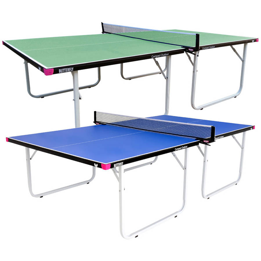 Butterfly Compact Outdoor Table Tennis Table, Blue