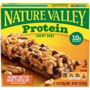 Nature Valley 10g Protein Chewy Granola Bars, Peanut Butter Dark Chocolate, 5 Ct, 7.1 Oz