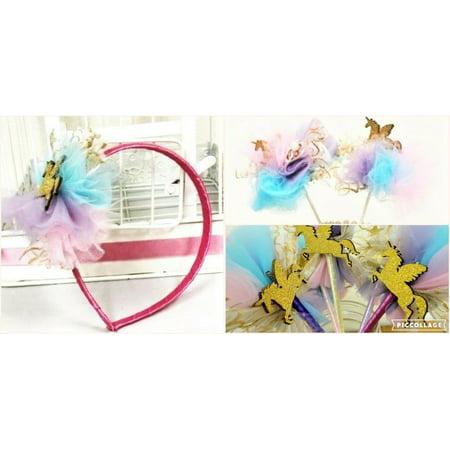 Charmed Fairy Pastel Unicorn Party Favor Bundle- 15pcs