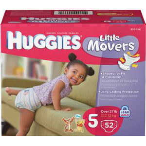 HUGGIES Little Movers Diapers, Step 5. [ Sold by the Each, Quantity per Each : 1 EA, Category : Undergarments, Product Class : Undergarments ]