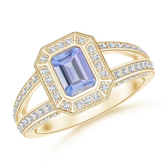 Mia Diamonds 14k Yellow Gold 7x5mm Oval Amethyst Ring