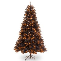 National Tree Company 6.5 ft. North Valley Black Spruce Tree with Orange Lights