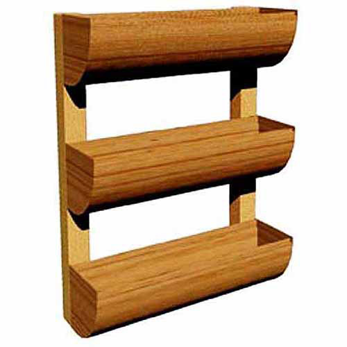 DC America City Garden Vertical Planter, Mini Wall Planter, 3 Shelves