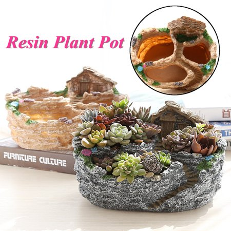 Succulent Resin Pot Creative Flower Planter Herb Box Container Garden Supplies - Cheap Garden Supplies