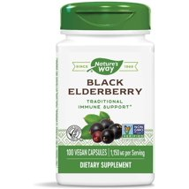 Vitamins & Supplements: Nature's Way Black Elderberry Capsules