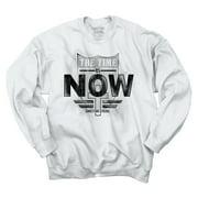 Jesus Crewneck Sweat Shirts Sweatshirts Time Is Now Christian Religious Christ
