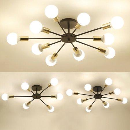 6/8/10 Lights Vintage Industrial Metal Flush Mount Chandeliers Ceiling Lamp E26 - 10