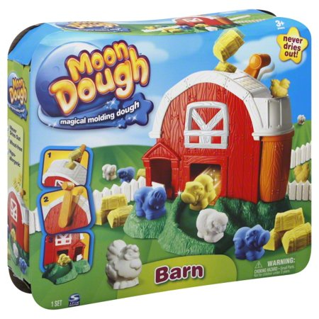 Moon Dough Magical Molding Dough Barn Playset