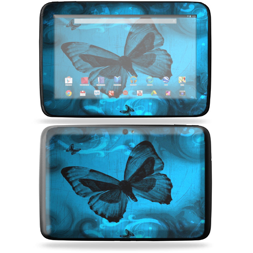 "Mightyskins Protective Skin Decal Cover for Samsung Google Nexus 10 Tablet with 10"" screen wrap sticker skins Dark Butterfly"