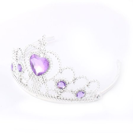 Princess Wedding Faux Crystal Decor Bridal Crown Hair Comb Tiara Headpiece
