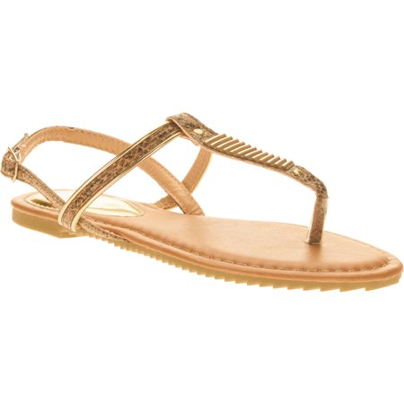 Green Jelly Sandals - Victoria K. Women Gold Embellishment Sandals