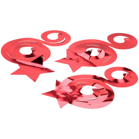 (4 Pack) Way to Celebrate! Red Dizzy Danglers 3 pc Pack