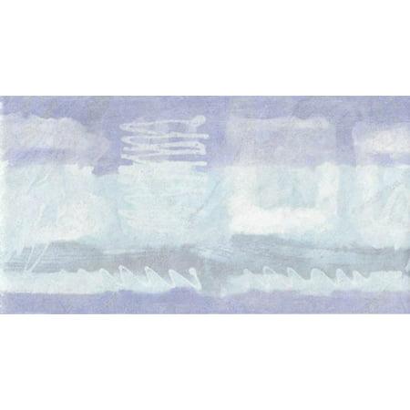 Wallpaper For Less HT73987 Wavy Stripes Wallpaper Border, Blue