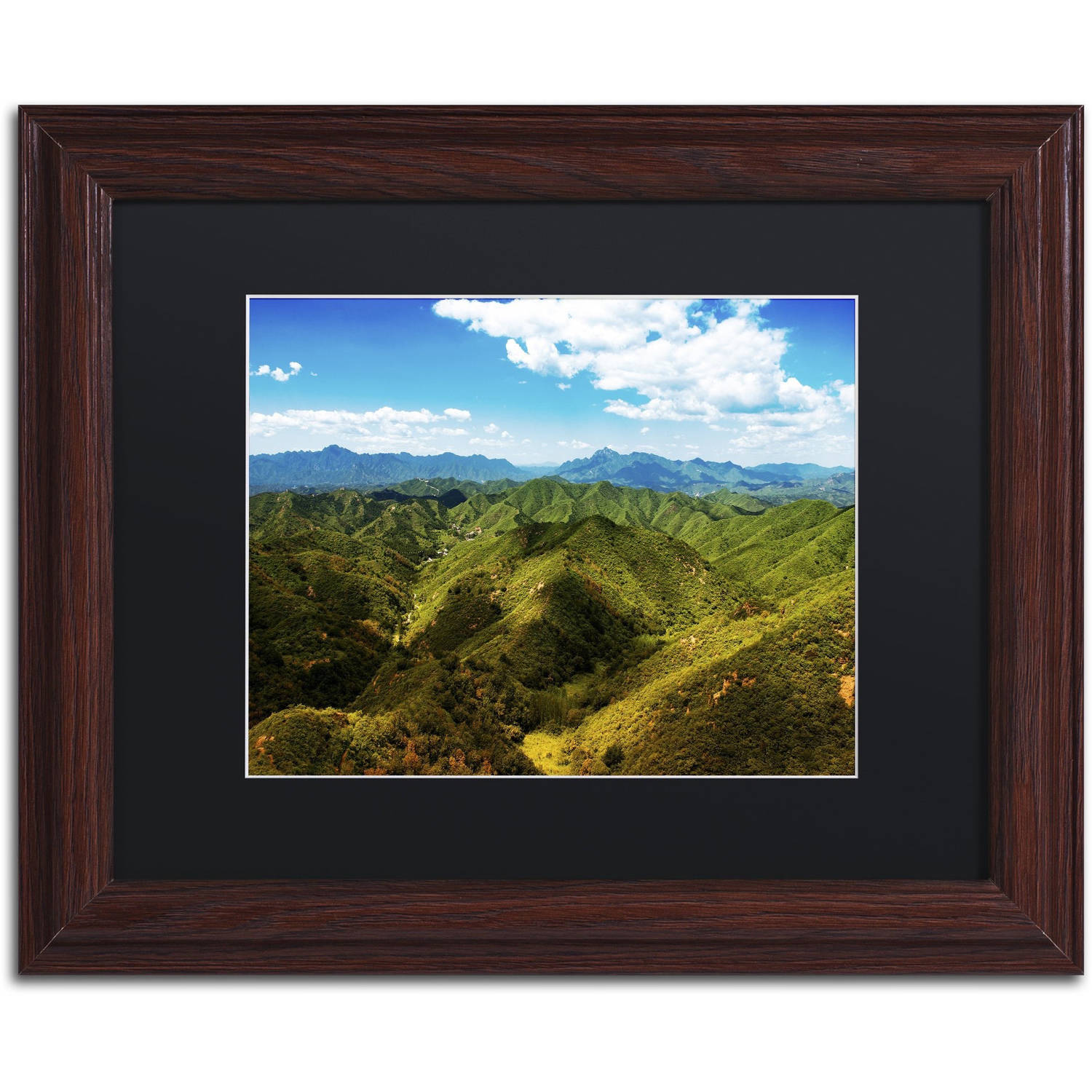 "Trademark Fine Art ""Great Wall XII"" Canvas Art by Philippe Hugonnard, Black Matte, Wood Frame"