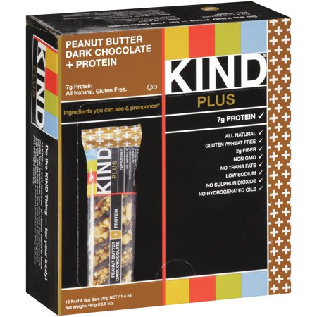 Kind Fruit and Nut Bars Peanut Butter Dark Chocolate, 1.4 oz, 12 Count