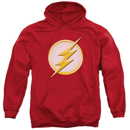 Flash New Logo Adult Pull Over Hoodie Red Md