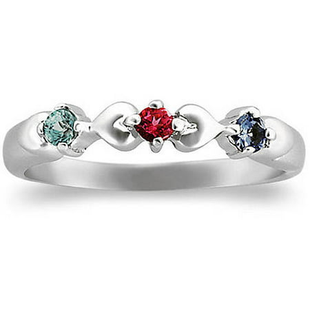 Personalized Family Jewelry Birthstone Women's Whimsical Ring available in 10kt and 14kt Gold