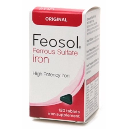 Feosol Ferrous Sulfate Iron, Original, Tablets 120 ea (Ferrous Sulfate Iron Deficiency Anemia)