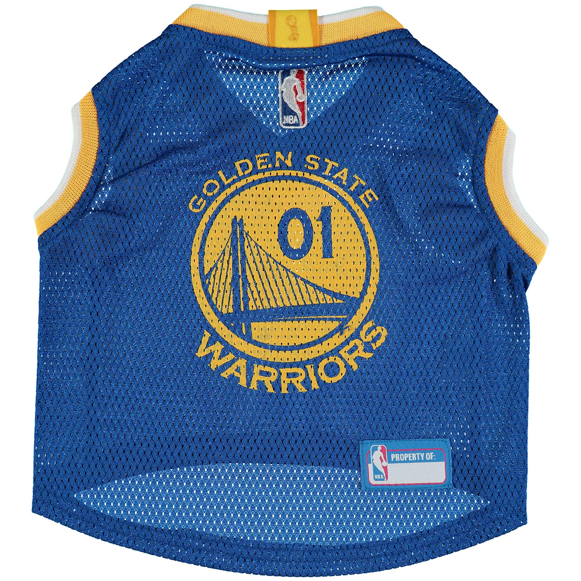 Golden State Warriors Mesh Basketball Dog Jersey