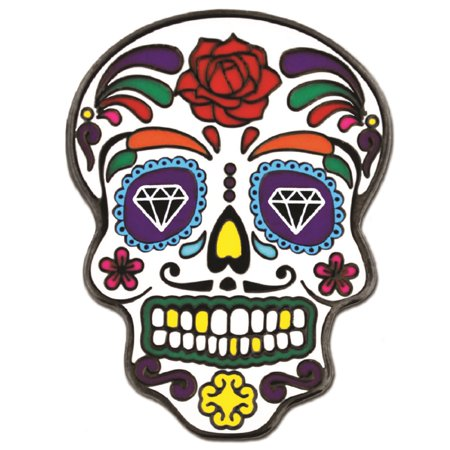 Day of the Dead Dia de Muertos Halloween Enamel Lapel Pin](Halloween Pins Craft)