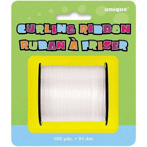 White Curling Ribbon, 100 yds