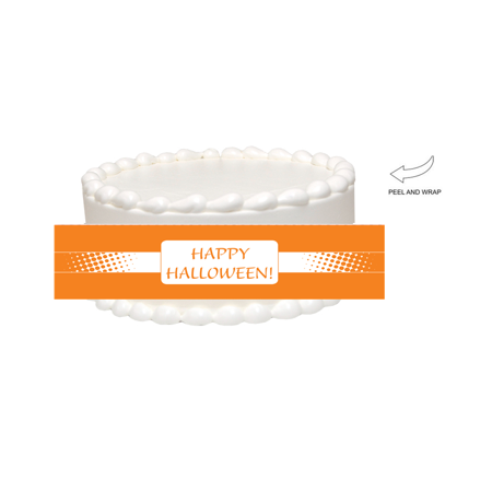 Happy Halloween Edible Cake Side Photo Image Decoration](Easy Halloween Cake Designs)