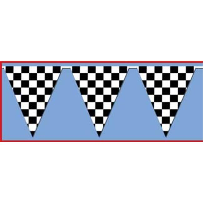 Beistle - 50703 - Checkered Outdoor Pennant Banner- Pack of 12