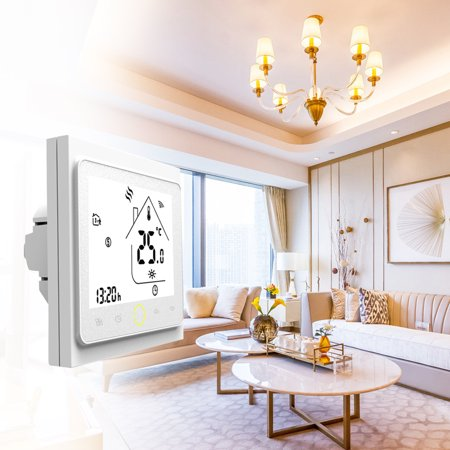 WiFi Thermostat with Touchscreen LCD Display Weekly Programmable Energy Saving Smart Temperature Controller for Water Heating 3A - image 6 of 7