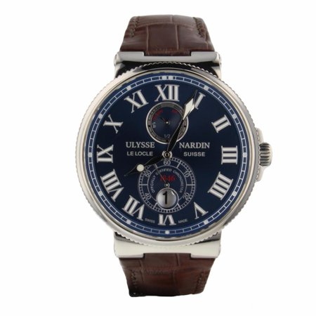Pre-Owned Ulysse Nardin Maxi Marine 263-67 Steel  Watch (Certified Authentic &