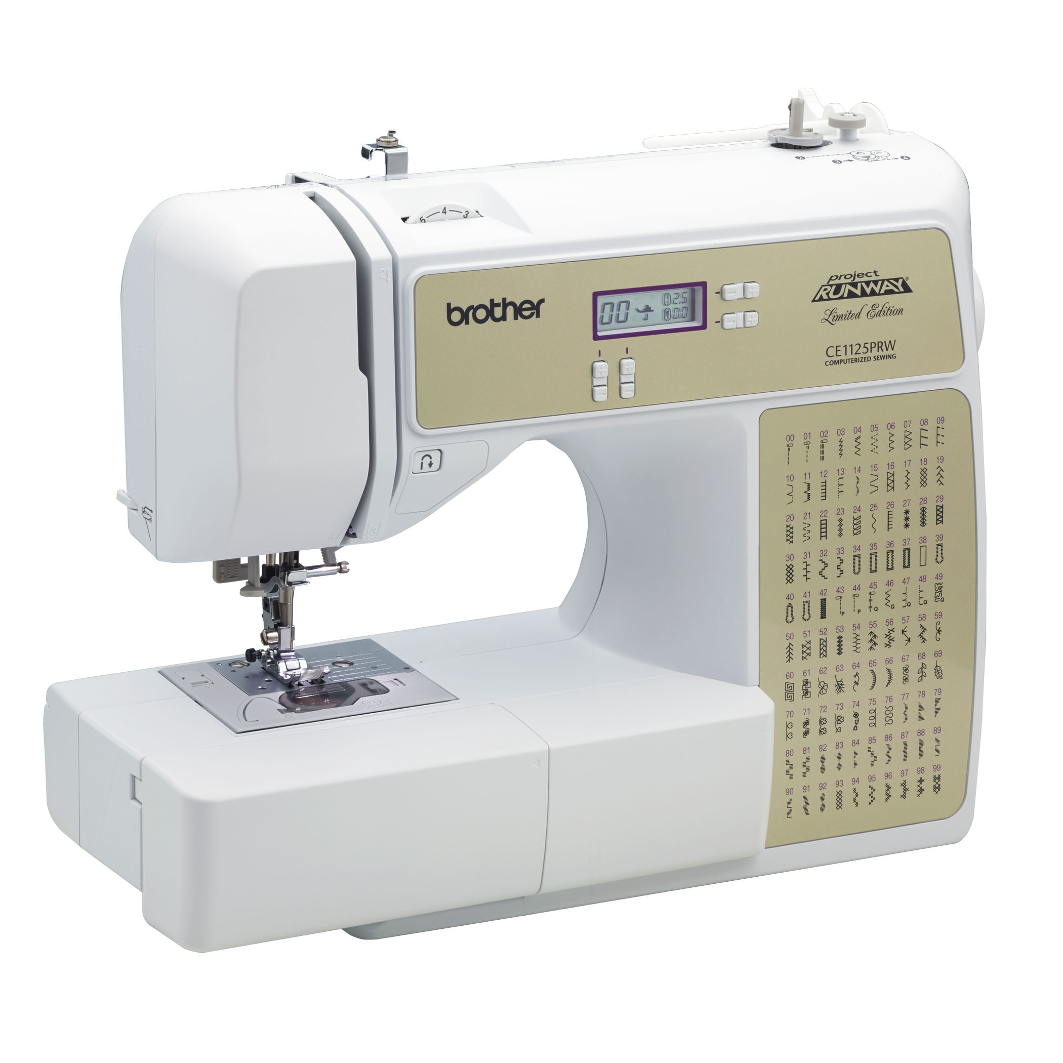 Brother computerized 100-stitch project runway sewing machine.