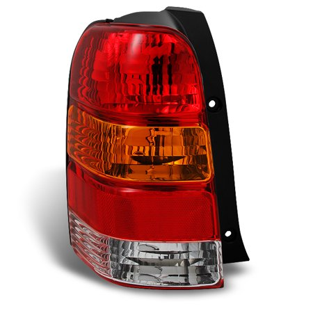 Fit 2001-2007 Ford Escape Amber Red Taillight Tail Lamp Driver Side Replacement