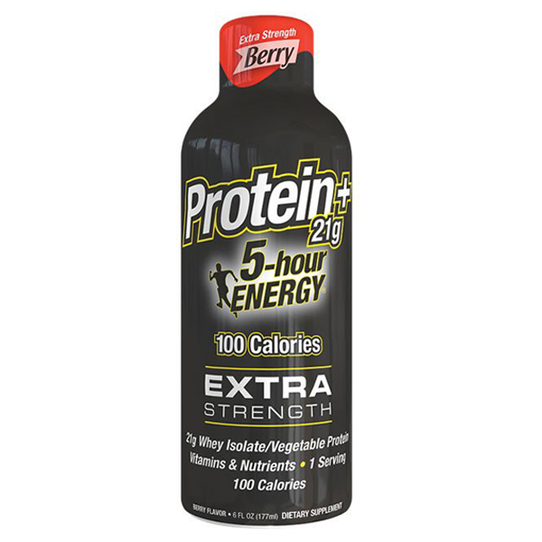 5-hour ENERGY Protein Extra Strength Berry Energy Drink 6 oz Plastic Bottles - Pack of 6
