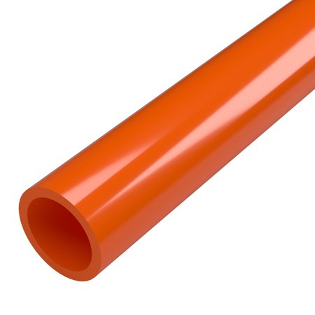 Pvc Plastic Drain Pipe (FORMUFIT P001FGP-OR-5 Schedule 40 PVC Pipe, Furniture Grade, 5-Feet, 1