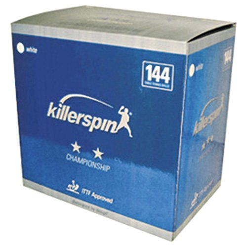 Killerspin 201-28 2-Star Table Tennis Balls White, 144-Pack
