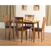 Dayton Dining Table Set with Hartford Dining Chairs in Cherry